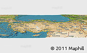 Satellite Panoramic Map of Turkey