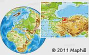 Physical Location Map of Sakarya