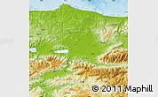 Physical Map of Sakarya