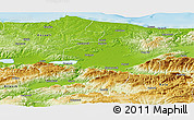 Physical Panoramic Map of Sakarya