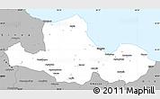 Gray Simple Map of Samsun