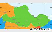 Political Simple Map of Samsun