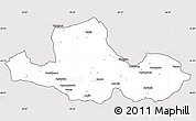 Silver Style Simple Map of Samsun, cropped outside