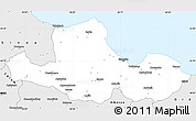 Silver Style Simple Map of Samsun