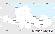 Silver Style Simple Map of Samsun, single color outside