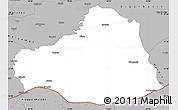 Gray Simple Map of Sanliurfa
