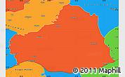 Political Simple Map of Sanliurfa