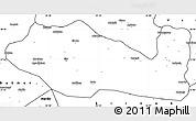 Blank Simple Map of Siirt