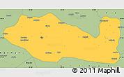 Savanna Style Simple Map of Siirt