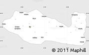 Silver Style Simple Map of Siirt, single color outside