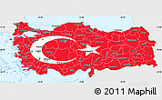 Flag Simple Map of Turkey, single color outside