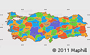 Political Simple Map of Turkey, cropped outside