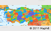 Political Simple Map of Turkey, political shades outside