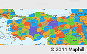Political Simple Map of Turkey
