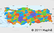 Political Simple Map of Turkey, single color outside