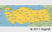 Savanna Style Simple Map of Turkey