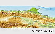 Physical Panoramic Map of Sinop
