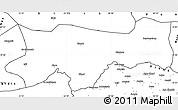 Blank Simple Map of Sirnak