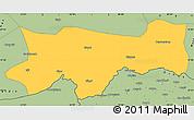 Savanna Style Simple Map of Sirnak