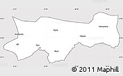 Silver Style Simple Map of Sirnak, cropped outside