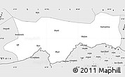 Silver Style Simple Map of Sirnak