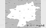 Gray Simple Map of Sivas