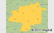 Savanna Style Simple Map of Sivas