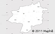 Silver Style Simple Map of Sivas, cropped outside