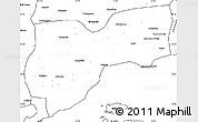 Blank Simple Map of Tekirdag