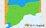 Political Simple Map of Tekirdag