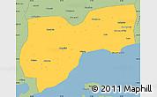 Savanna Style Simple Map of Tekirdag