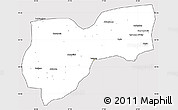Silver Style Simple Map of Tekirdag, cropped outside