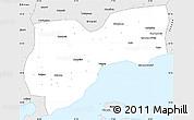 Silver Style Simple Map of Tekirdag