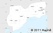 Silver Style Simple Map of Tekirdag, single color outside