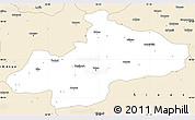 Classic Style Simple Map of Tokat