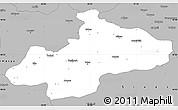 Gray Simple Map of Tokat