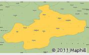 Savanna Style Simple Map of Tokat