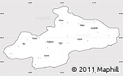 Silver Style Simple Map of Tokat, cropped outside