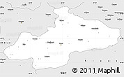 Silver Style Simple Map of Tokat