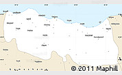Classic Style Simple Map of Trabzon
