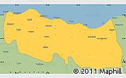 Savanna Style Simple Map of Trabzon