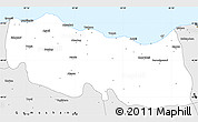 Silver Style Simple Map of Trabzon
