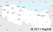 Silver Style Simple Map of Trabzon, single color outside