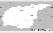 Gray Simple Map of Tunceli