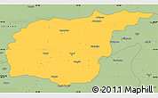 Savanna Style Simple Map of Tunceli