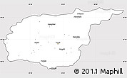 Silver Style Simple Map of Tunceli, cropped outside