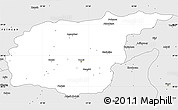 Silver Style Simple Map of Tunceli