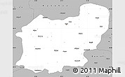 Gray Simple Map of Usak