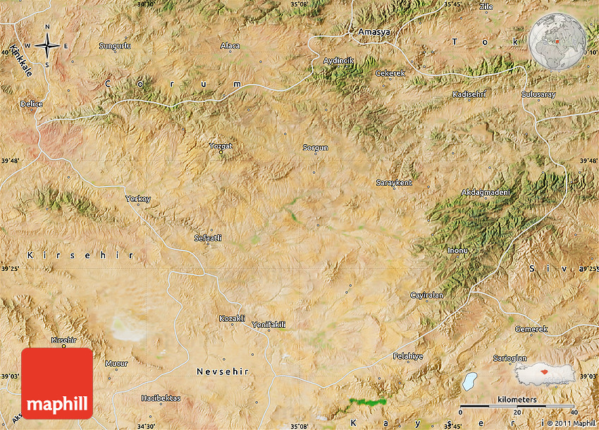 Satellite Map of Yozgat