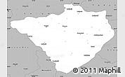Gray Simple Map of Yozgat